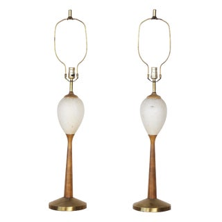 Mid-Century Table Lamps - A Pair For Sale