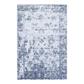 "Distressed Vintage Blue Rug - 5'3"" x 7'3"""