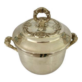 Vintage Silver Oneida Ice Bucket With Lid For Sale