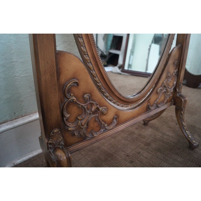 Vintage French Louis XV Style Chevelle Mirror - Image 8 of 10