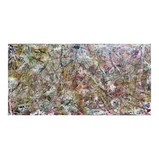 "Acrylic Painting by Artist Troy Smith - 36"" X 72"" Contemporary Art - Abstraction For Sale"