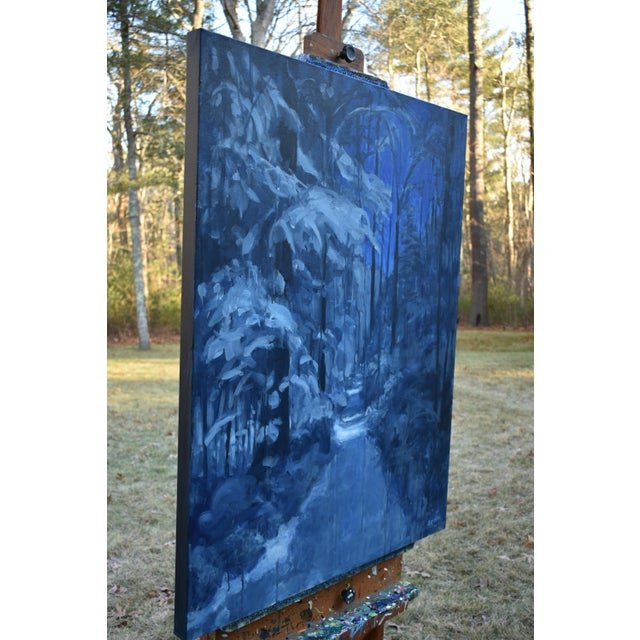 """Contemporary Expressionist Painting by Stephen Remick, """"Following Moonlight"""" For Sale In Providence - Image 6 of 11"""