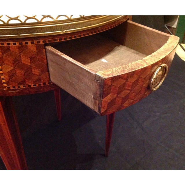Gold 19th Century French Inlaid Bouillotte Table For Sale - Image 8 of 9
