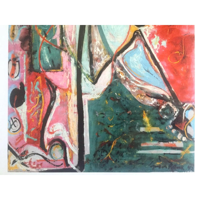 "Jackson Pollock Foundation Abstract Expressionist Collector's Lithograph Print "" the Moon - Woman "" 1942 For Sale In Kansas City - Image 6 of 13"