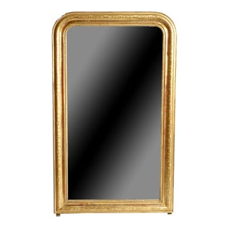Gilded Pinewood Mirror With Original Glass For Sale