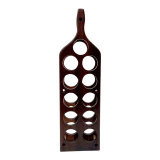 Vintage Cocobolo Wine Rack For Sale