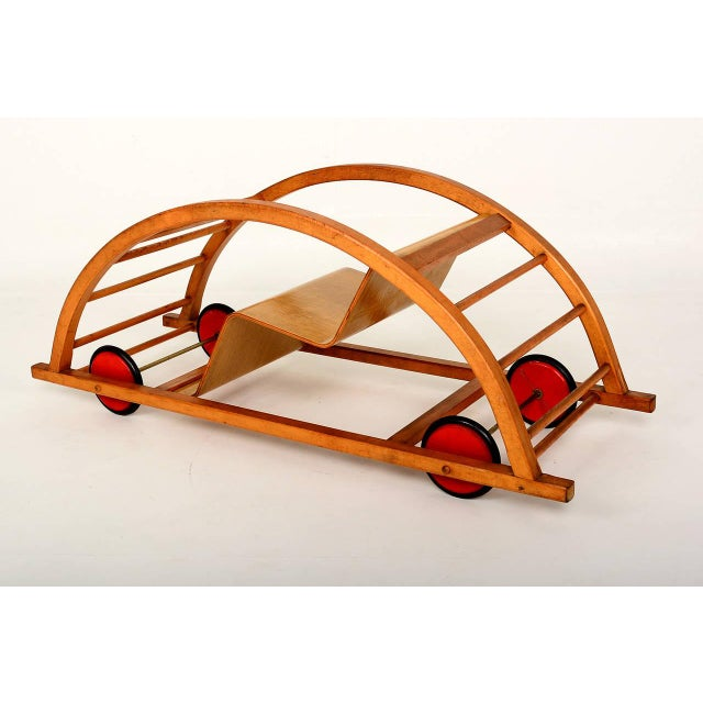 1950s Vintage Schaukelwagen Swing and Race Car Toy, Midcentury For Sale - Image 5 of 6