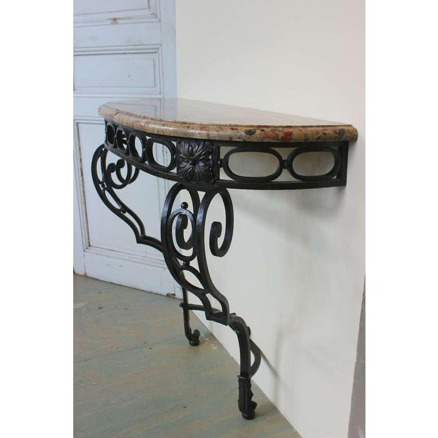 French Iron Console - Image 4 of 11