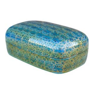 Kashmiri Lotus Painted Jewelry Box For Sale