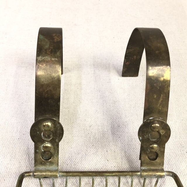 Traditional Vintage Salvage Brass Roll Top Soap Holder Dish For Sale - Image 3 of 6
