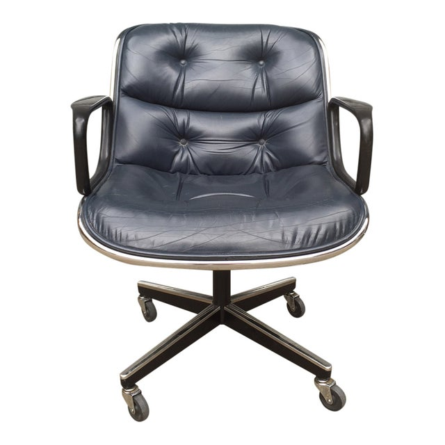 Charles Pollock for Knoll Blue Office Chair - Image 2 of 7