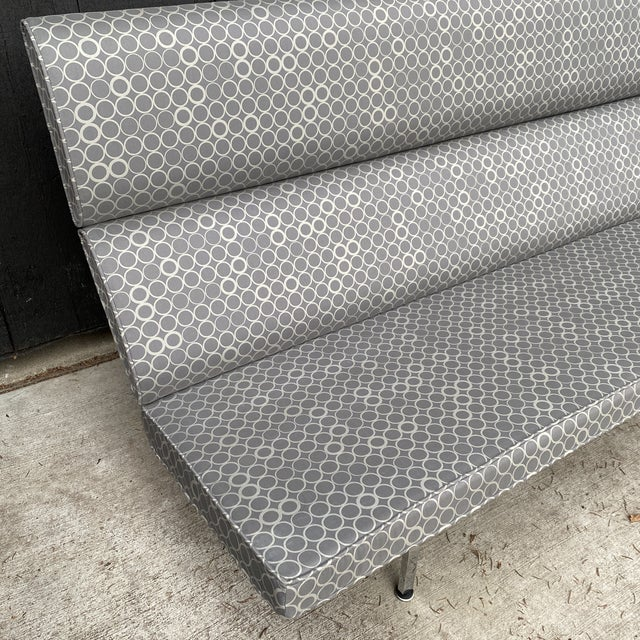 Mid-Century Modern Eames Compact Sofa For Sale - Image 3 of 11