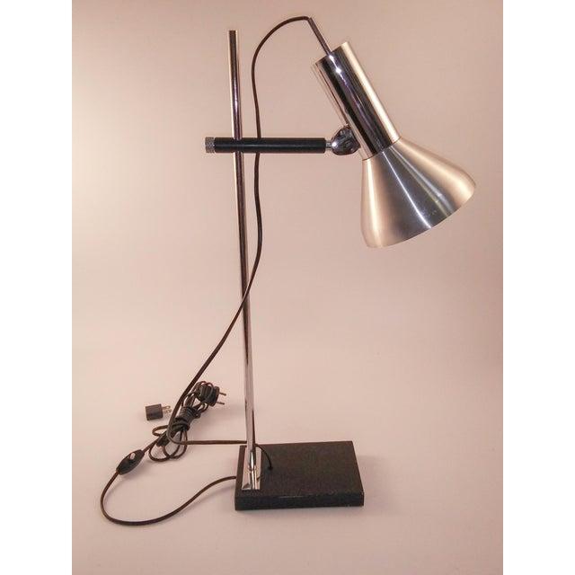 Contemporary 1960s European Chrome Desk Lamp For Sale - Image 3 of 9