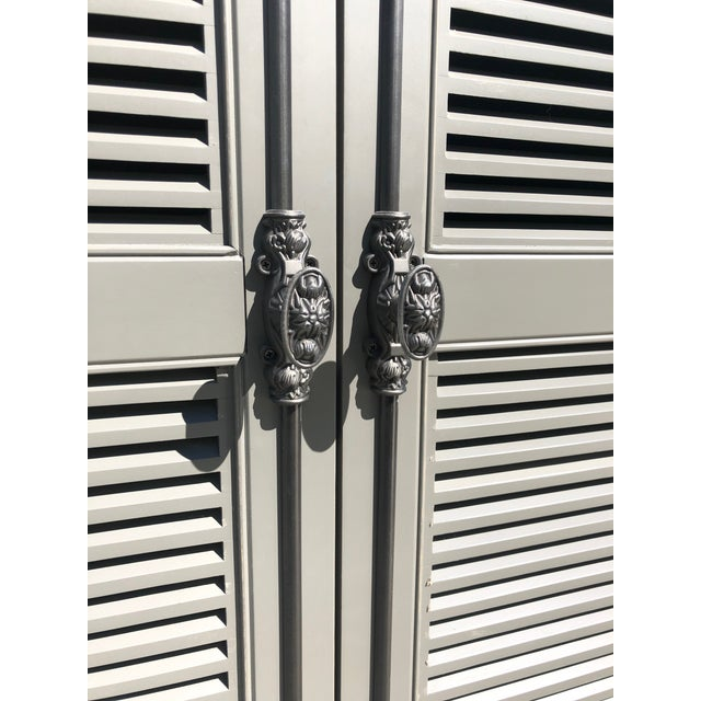 2010s Restoration Hardware French Casement Cabinet For Sale - Image 5 of 8