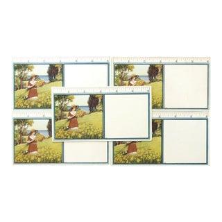 Edwardian Blotting Cards - Set of 5 For Sale