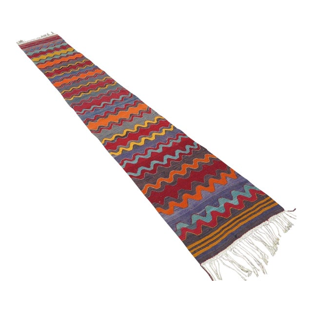 Vintage Turkish Oversized Kilim Runner - 2′2″ × 15′8″ - Image 1 of 11