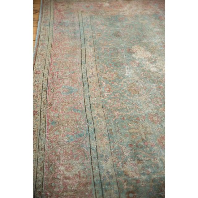 "White Vintage Distressed Tabriz Square Carpet - 11'10"" X 13'11"" For Sale - Image 8 of 13"