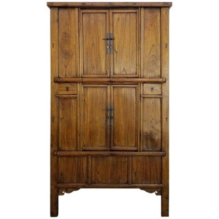 19th Century Chinese Qing Dynasty Tapered Storage Cabinet For Sale