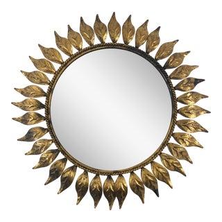 Mid-Century Modern Line Vautrin Style Sunburst Mirror