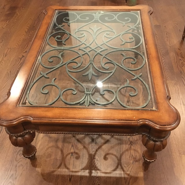 Copper Top Coffee Table Ethan Allen: Ethan Allen Tuscan Coffee Table