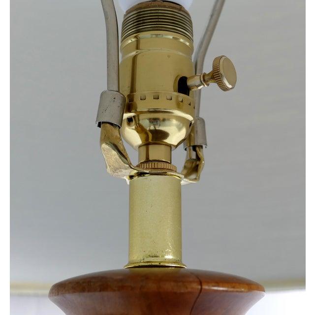 Mid 20th Century Studio Mid-Century Modern Turned Wood Lamp For Sale - Image 5 of 9