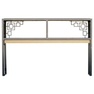 """Black and Gold """"Prairie"""" Style Console Table For Sale"""
