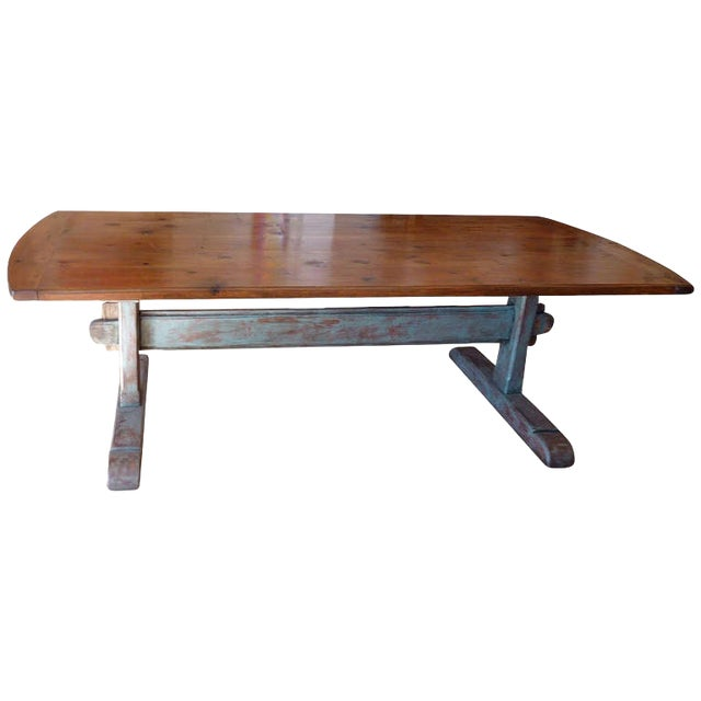19th Century Scandinavian Trestle Table For Sale