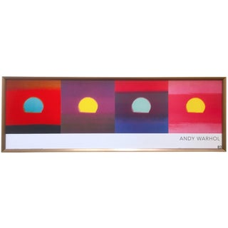 "Andy Warhol Foundation Rare Vintage Framed Pop Art Poster Print "" Sunset Series "" 1972 For Sale"