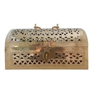 20th Century Asian Brass Box Trunk For Sale