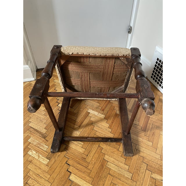 17th Century Italian Florentine Hand Carved Upholstered Walnut Side Chair For Sale - Image 11 of 13