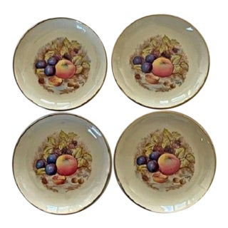 Early 20th Century Vintage Aynsley Bone China Coasters-Set of 4 For Sale