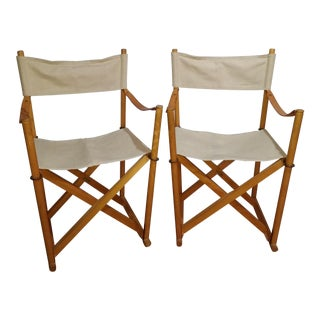 Vintage Folding Safari Chairs - a Pair For Sale