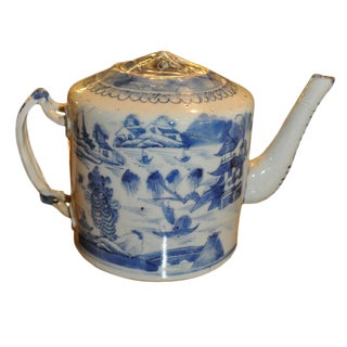 19th C. Canton Tea Pot
