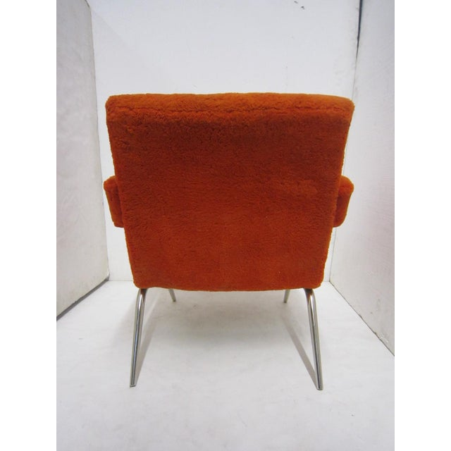 Italian Mid-Century Italian Upholstered Lounge Slipper Chairs - a Pair For Sale - Image 3 of 13