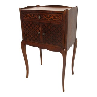 French Walnut Side Table Cabinet