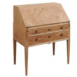Image of Mid-20th Century Swedish Drop-Leaf Secretary Writing Desk With Drawers For Sale