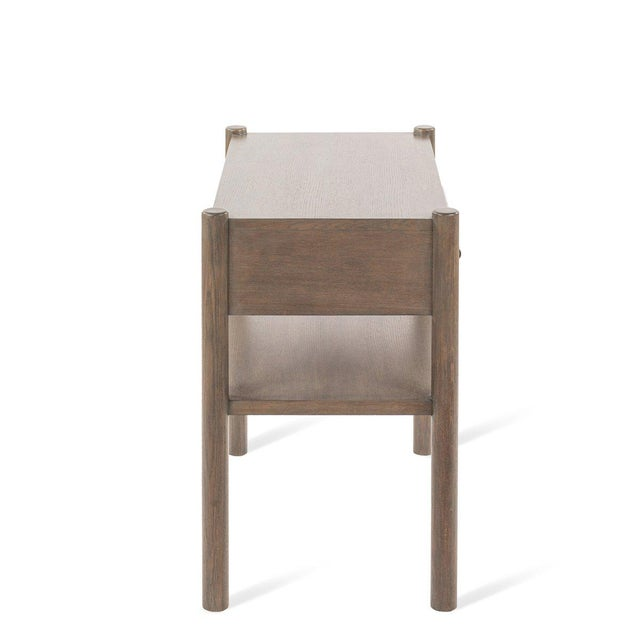 Contemporary Lombardy Nightstand - Large in Gray For Sale - Image 3 of 6