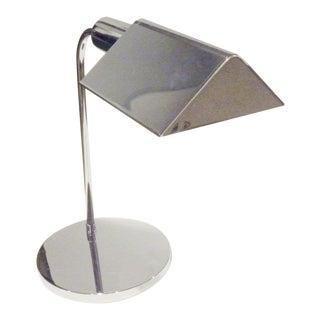Vintage Mid-Century Modern Chrome Desk / Table Lamp For Sale