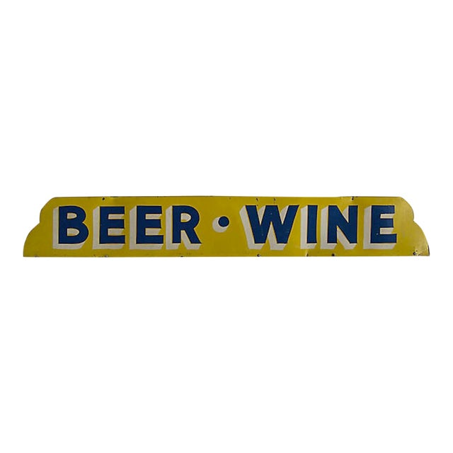 Beer Wine Sign For Sale