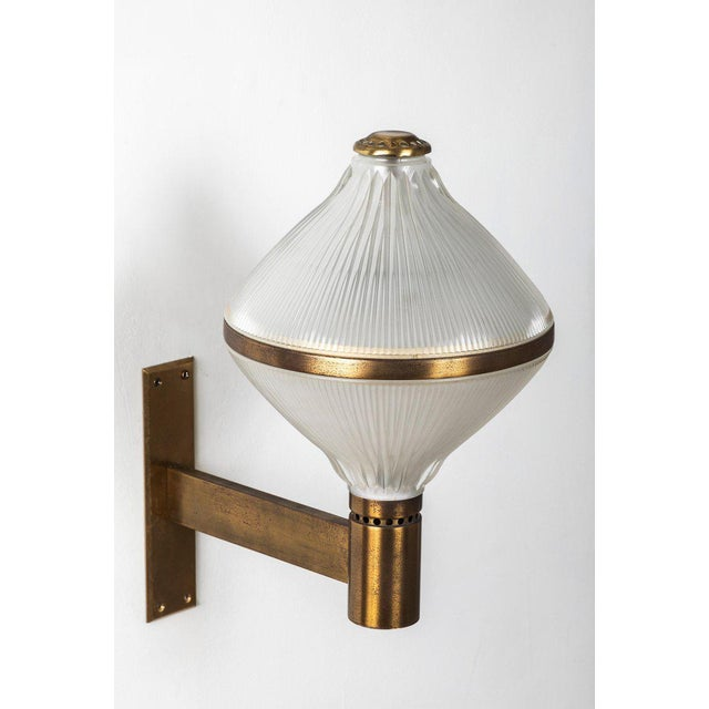 Large 1960s Studio B.B.P.R Brass Sconce For Sale In Los Angeles - Image 6 of 13