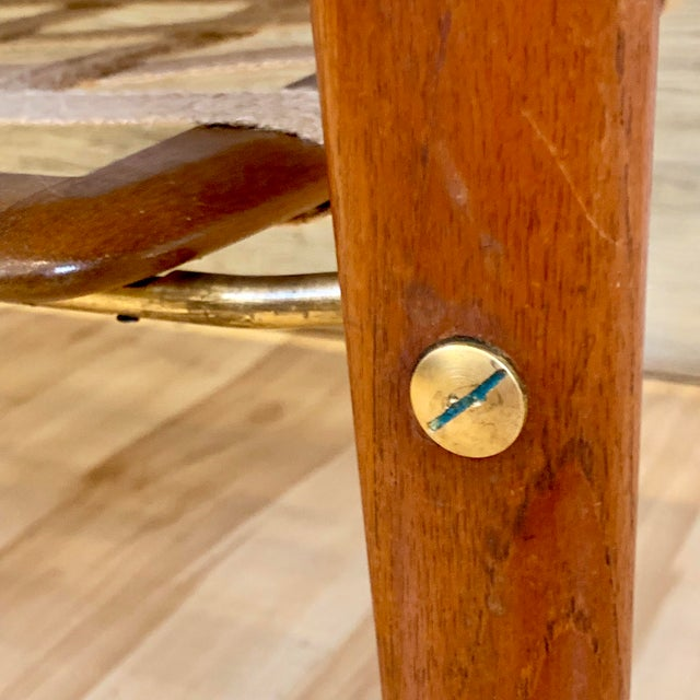 1960s Danish Modern Arne Hovmand-Olsen Teak Coffee Table With Tile Inlay For Sale - Image 9 of 13