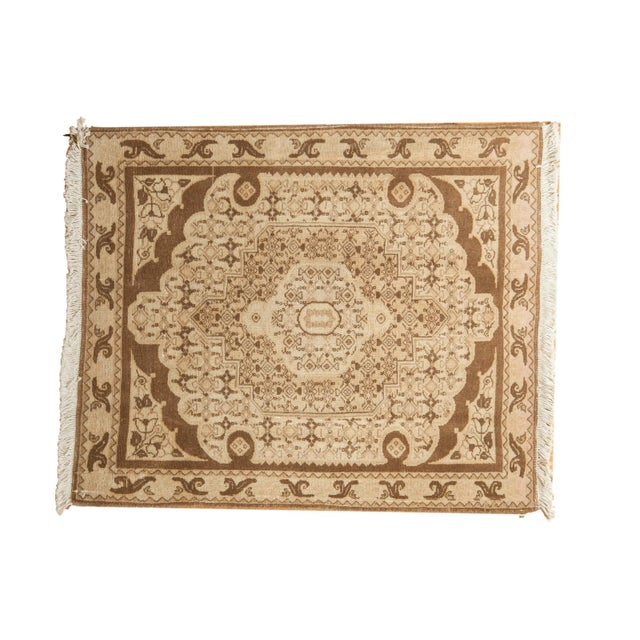 "Vintage Bijar Square Rug - 2'6"" X 3' For Sale - Image 9 of 9"