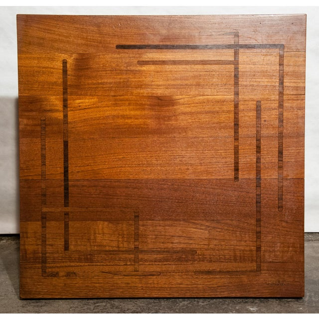 Circa 1960, Denmark, J. Schmidt Inlaid Rosewood and Teak Side Table For Sale In Richmond - Image 6 of 9