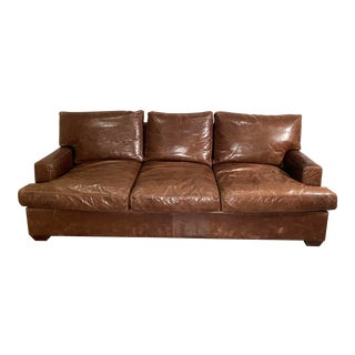Barclay Butera Italian Leather Sleeper Sofa For Sale