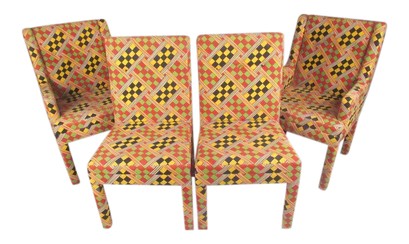 upholstered dining chairs set of 4 baxton studio parsons style upholstered dining chairs set of chairish