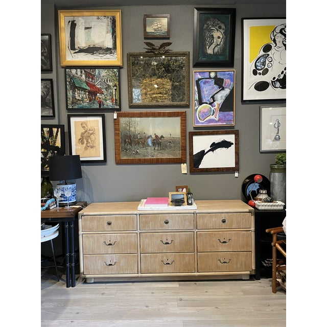 Drexel Heritage 1970's Drexel Heritage Accolade Campaign Style Credenza For Sale - Image 4 of 9