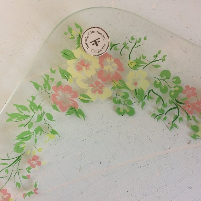 Glass Dorothy Thorpe California Wild Flower Square Serving Platter For Sale In Sacramento - Image 6 of 13