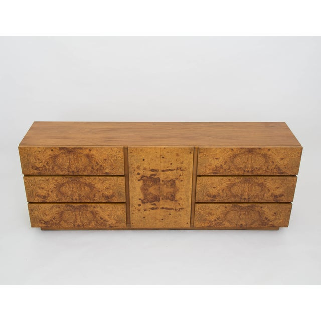 Lane Furniture Olive Burl Wood Credenza Or Dresser By Milo Baughman For