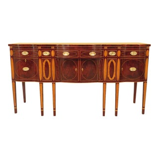 1990s Federal Kindel Winterthur Collection Inlaid Mahogany Sideboard For Sale
