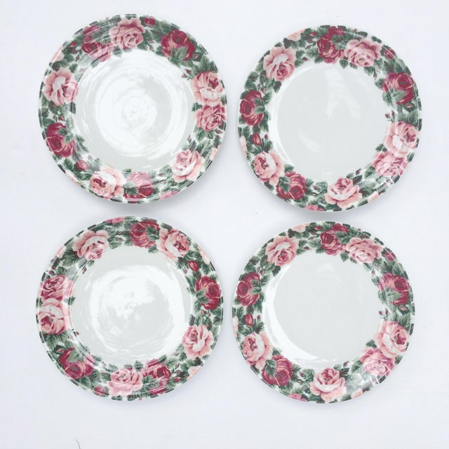 Vintage Rose Garden Dinner Plates by Block Spal - Set of 4 For Sale - Image 4 of 10